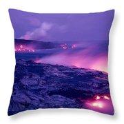 Lava Flows To The Sea Throw Pillow