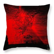 Lava Fountain Throw Pillow