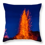Lava Fountains At The Holuhraun Fissure Throw Pillow