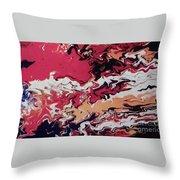 Lava Map Throw Pillow