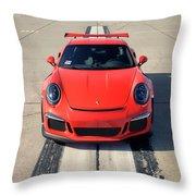 Lava Orange #porsche 911 #gt3rs #print Throw Pillow
