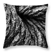 Lava Patterns - Bw Throw Pillow