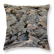 Lava Peeking At Us Throw Pillow