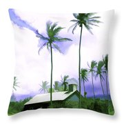 Lava Rock Church Throw Pillow