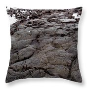 Lava Rock Island Throw Pillow