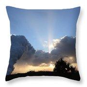 Lava Sunset Throw Pillow