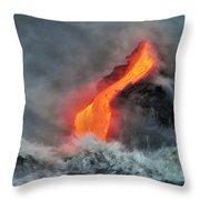 Lava Torrent Throw Pillow