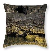 Lava Tubes Puerto Egas Throw Pillow