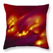 Lava Up Close Throw Pillow