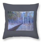 Lavendar Birch  Throw Pillow