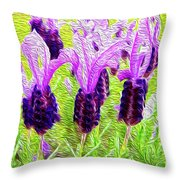 Lavender Abstract Throw Pillow