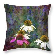 Lavender And Cones 1636 Idp_2 Throw Pillow