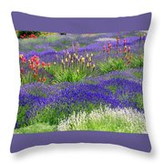 Lavender And Flowers Oh My Throw Pillow