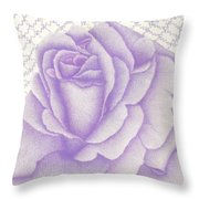 Lavender And Lace Throw Pillow