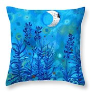 Lavender And Moon Throw Pillow