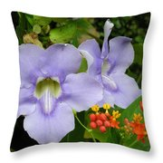 Lavender And Orange At Noon Throw Pillow
