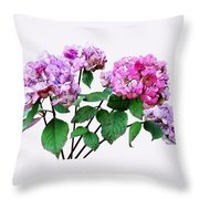 Lavender And Rose Hydrangeas Throw Pillow
