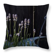 Lavender And Watering Can Throw Pillow