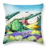 Lavender At Matanzas Creek Throw Pillow