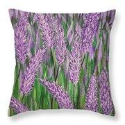 Lavender Blooms Throw Pillow