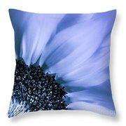 Lavender Blue Silk Throw Pillow