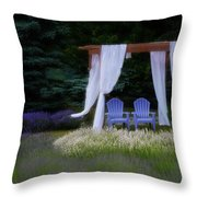 Lavender Breeze Throw Pillow
