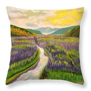 Lavender Brook Throw Pillow