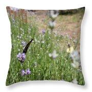 Lavender Butterflies Throw Pillow