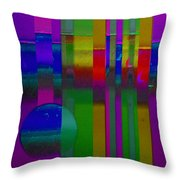 lavender Doors Throw Pillow