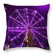 Lavender Ferris Wheel Throw Pillow