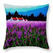 Lavender Field - County Wicklow - Ireland Throw Pillow