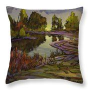 Lavender Field, Langley B C Throw Pillow