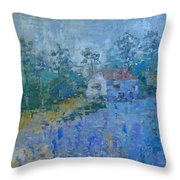 Lavender Field Provence Throw Pillow