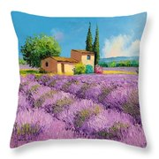 Lavender Fields In Provence Throw Pillow
