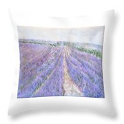 Lavender Fields Provence-france Throw Pillow