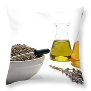 Lavender Flower Aromatherapy Scent Manufacturing Process Throw Pillow