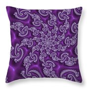 Lavender Fractal  Throw Pillow