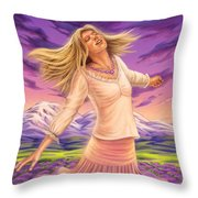 Lavender - Heal Through Joy Throw Pillow
