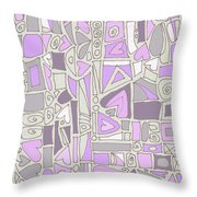 Lavender Hearts Throw Pillow