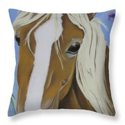Lavender Horse Throw Pillow