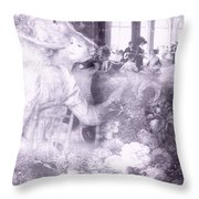 Lavender Ladies Throw Pillow