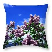 Lavender Lilacs Throw Pillow