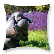 Lavender Lovers Throw Pillow