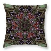 Lavender Mandala Throw Pillow