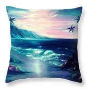 Lavender Night  Throw Pillow