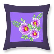 Lavender Peonies Throw Pillow