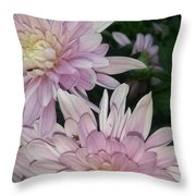 Lavender Pompons Throw Pillow