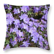 Lavender Rhododendrons Throw Pillow