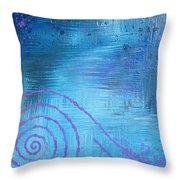 Lavender Spiral  Throw Pillow