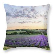 Lavender Sunset Panorama Throw Pillow